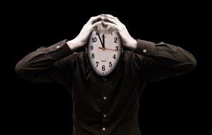 Mensch unter Zeitdruck